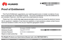 Huawei Licenses